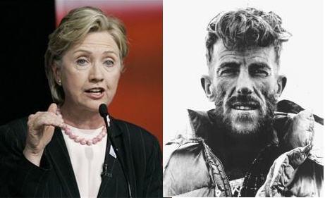 Hillary Clinton Versus Edmund Hillary