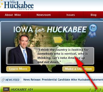 Mike Huckabee's Vertical Politics