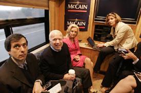 McCain Takes 1st Class Train