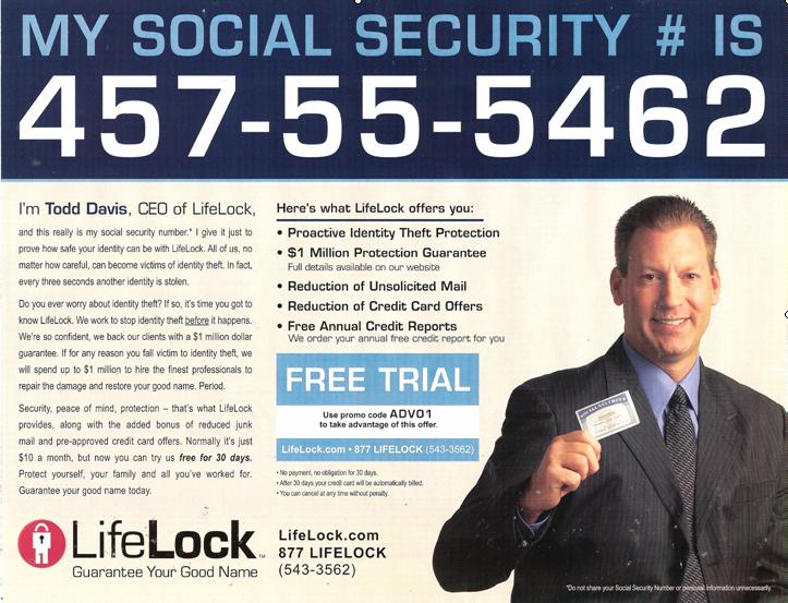 LifeLock Pitchman Has Identity Stolen