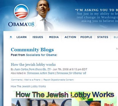 Obama, The Jewish Lobby, and the Perils of Web 2.0