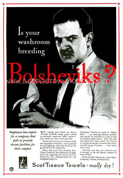 Is Your Washroom Breeding Bolsheviks?