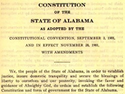 Alabama's Constitution: A Result of Vote Fraud?