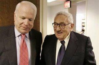 Kissinger:  COIN Won't Work/McCain:  CT Won't Work