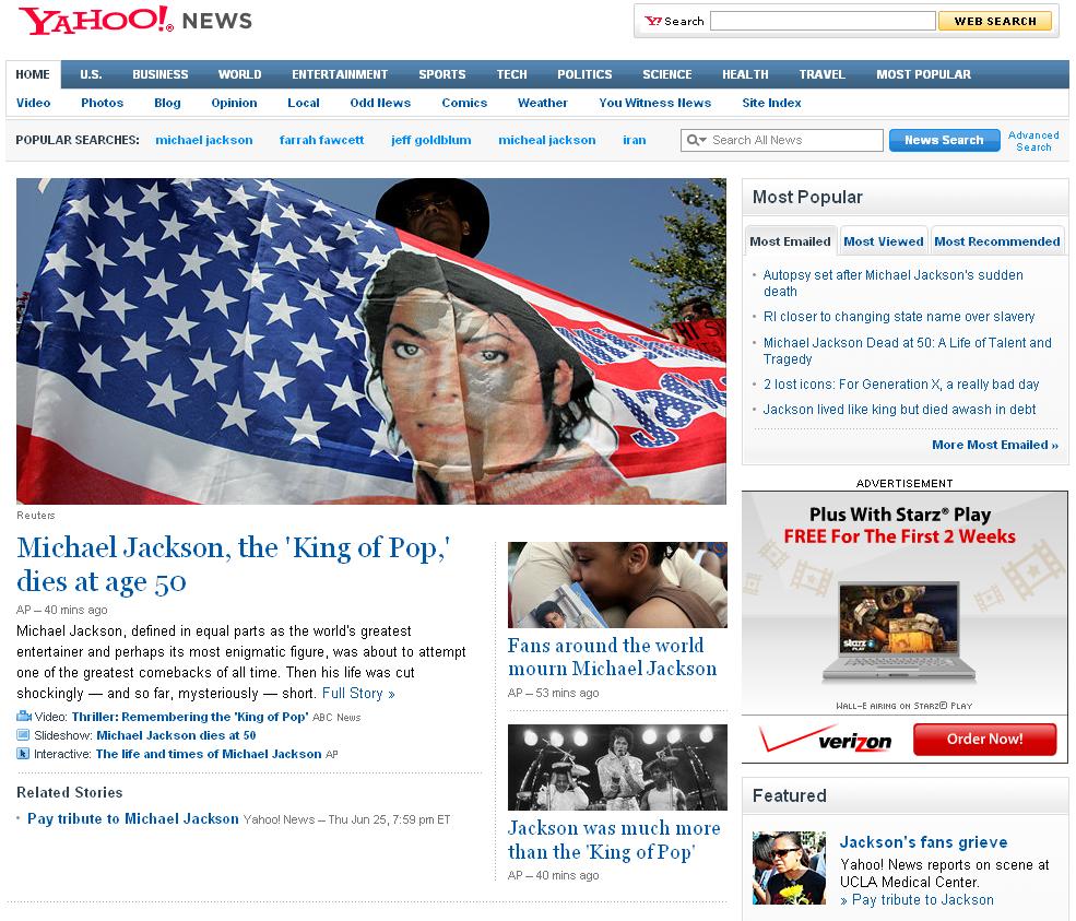 Michael Jackson News Saturation - Micheal Jackson Tops Iran!