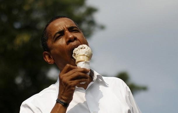 Iran Heats Up, Obama Goes for Ice Cream