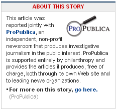 Why is ProPublica Writing Articles for the Washington Post?
