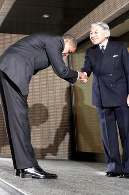 Image result for obama bow