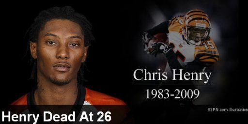 Chris Henry Dead at 26
