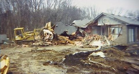 Man Bulldozes Foreclosed House