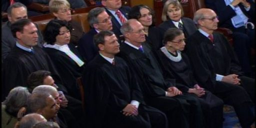 Roberts Not Sure Why Justices at State of Union Address