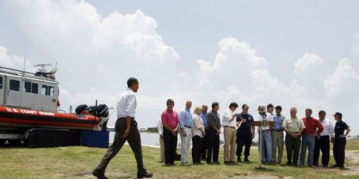 Potemkin Village Cleanup Crews For Obama's Visit To The Gulf ?