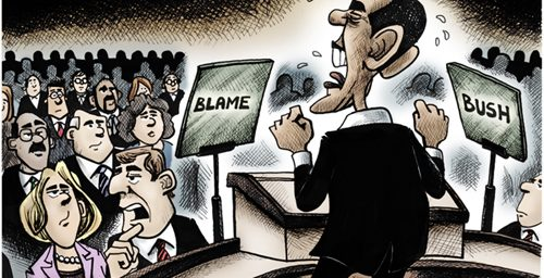 "Democrats' ""New"" Strategy: Blame Bush"