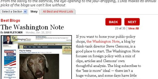Best Blogs of 2010: Washington Note