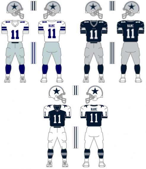 size 40 4b1c3 df923 Dallas Cowboys Uniform Change