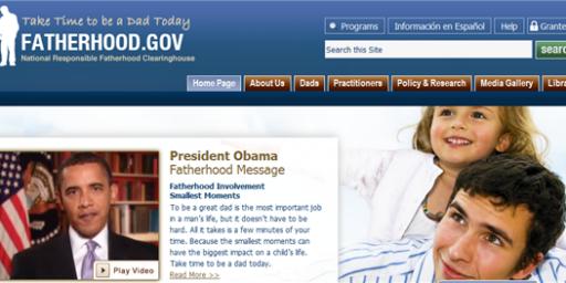 Fatherhood.gov Started Under Bush!