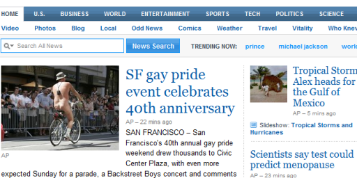 Gay Pride and Bare Asses