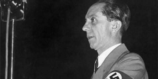 Jerry Brown Goebbels Comparison