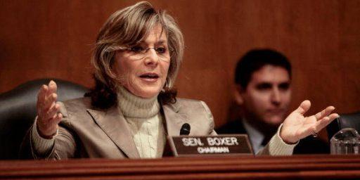 Barbara Boxer Compares Veterans, Congressmen