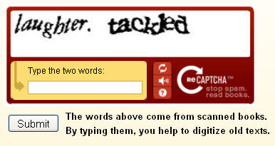 Captcha: Annoying People Two Words At A Time