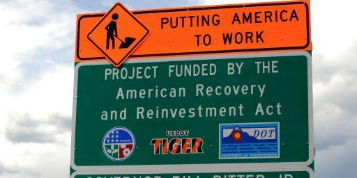 Stimulus Funds Spent On Stimulus Road Signs