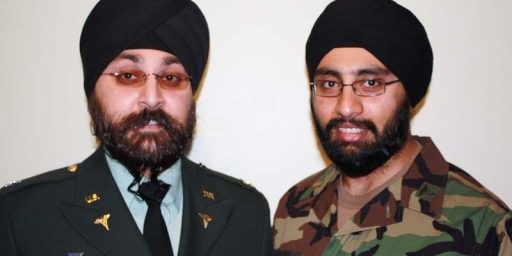Army Waives Uniform Regs for Sikhs