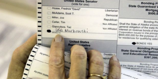 Murkowski Continues To Lead In Write-In Count, Miller Camp Grows More Desperate