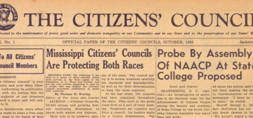 Understanding our History on Race (and the Citizens' Councils)