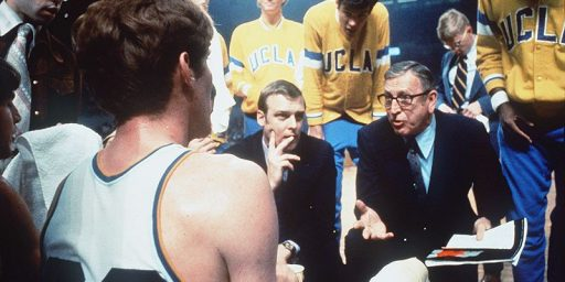 Geno Auriemma and John Wooden