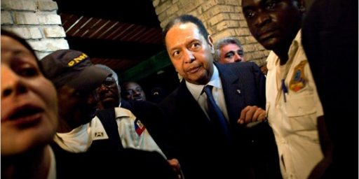 "Just What Haiti Doesn't Need: ""Baby Doc"" Duvalier Returns"