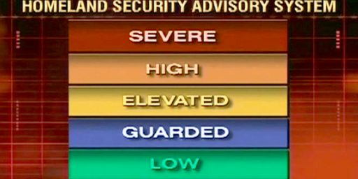 DHS Dropping Color Coded Terror Alerts
