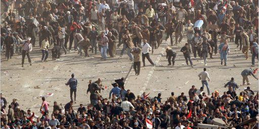 Chaos Erupts In Cairo In Wake Of Mubarak Speech
