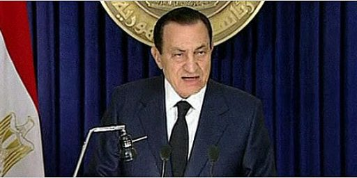 Hosni Mubarak Pleases Nobody, And Probably Fans The Flames Of Protest