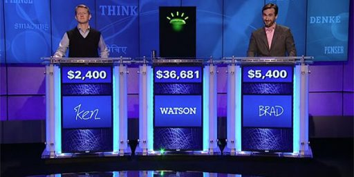 Watson Beats Ken Jennings on Jeopardy