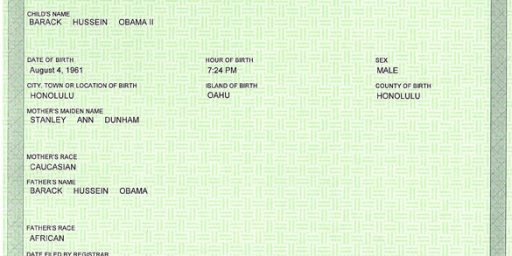 """Hawaiian Official Again Confirms Obama's Birth Records, Calls Birthers 'Ludicrous"""""""