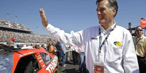Mitt Romney at Daytona 500