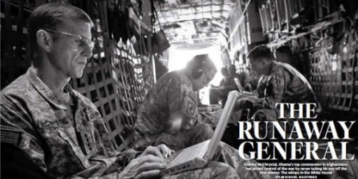 "Pentagon Report ""Doubts"" Some Comments Attributed To McChrystal By Rolling Stone"