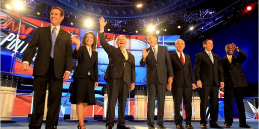 Romney & Bachmann Rise, Pawlenty & Cain Fizzle In Mostly Lackluster Debate