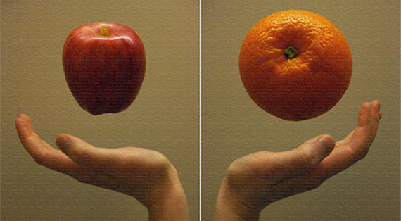 what does the phrase comparing apples to oranges mean