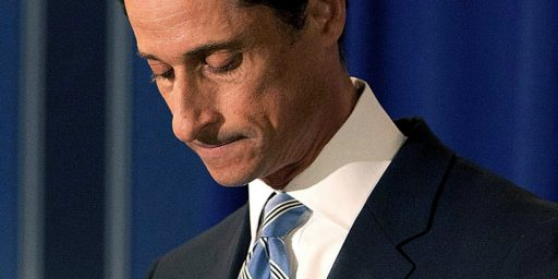 Anthony Weiner Sentenced To Twenty-One Months In Prison