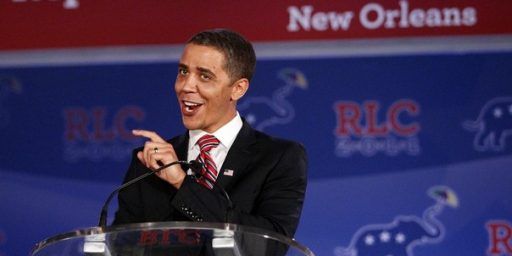 Obama Impersonator Tells Racist Jokes at Republican Conference