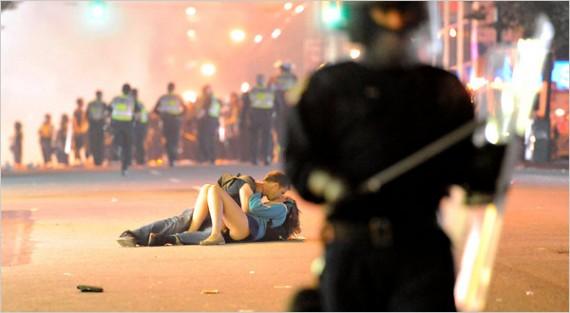 Vancouver Riot Kiss Scott Jones and Alex Thomas by Rich Lam