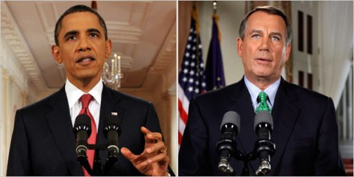 In Dueling Speechs Obama And Boehner Talk Past Each Other, Accomplish Little