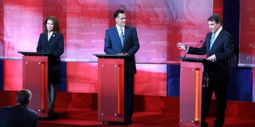 Republican Debate: Romney Perry Fight Dominates Conversation