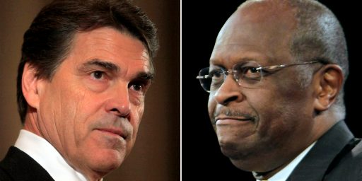 Perry And Cain On The Spot In Tonight's Debate