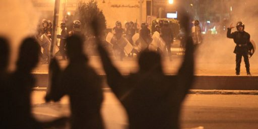 Protesters Once Again Clash With Police In Tahrir Square