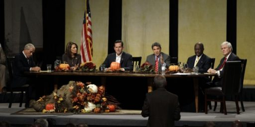 The GOP's Bizarre Iowa Debate/Forum/Church Revival Meeting