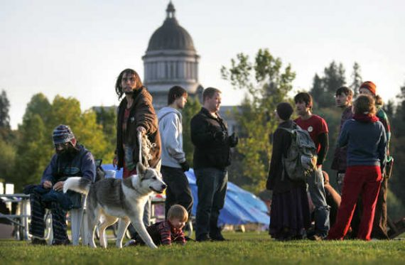 Occupy Olympia camp attracting homeless