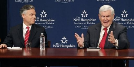 Huntsman, Gingrich, And The Not-Really Lincoln-Douglas Debate
