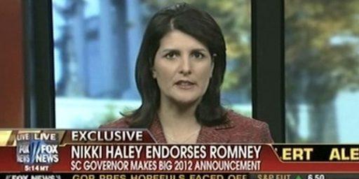 Nikki Haley Endorses Mitt Romney